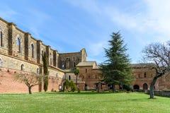 Abbotskloster av San Galgano, Tuscany, Italien Fotografering för Bildbyråer