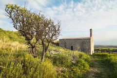 Abbotskloster av San Mauro i Salento- Italien Fotografering för Bildbyråer