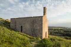 Abbotskloster av San Mauro i Salento- Italien Arkivfoto