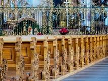 Abbotskloster av Sankt fräckhet, St Gallen, Schweiz Arkivbilder