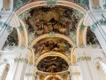 Abbotskloster av Sankt fräckhet, St Gallen, Schweiz Royaltyfria Bilder