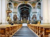 Abbotskloster av Sankt fräckhet, St Gallen, Schweiz Arkivfoto