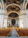 Abbotskloster av Sankt fräckhet, St Gallen, Schweiz Royaltyfri Bild