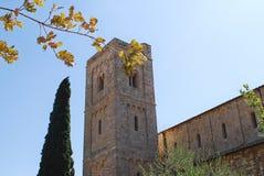 Abbotskloster av Sant ` Antimo Royaltyfria Foton