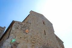 Abbotskloster av Sant ` Antimo Arkivfoton