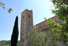Abbotskloster av Sant ` Antimo Royaltyfria Bilder