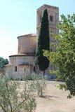 Abbotskloster av Sant ` Antimo Arkivfoto