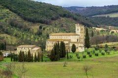 Abbotskloster av Sant Antimo, Italien Royaltyfri Bild