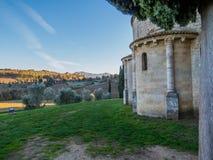 Abbotskloster av Sant ` Antimo, Montalcino Arkivbilder