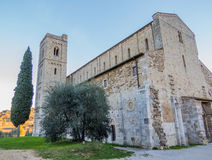 Abbotskloster av Sant ` Antimo, Montalcino, Tuscany Royaltyfri Bild