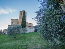 Abbotskloster av Sant& x27; Antimo Montalcino, Tuscany Fotografering för Bildbyråer