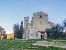 Abbotskloster av Sant ` Antimo, Montalcino, Tuscany Royaltyfria Bilder