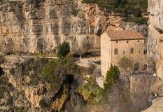 Abbotskloster av Sant Miquel del Fai Arkivfoto