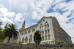 Abbotskloster av Santa Maria de Viaceli i Cobreces, Spanien Arkivbilder