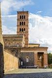Abbotskloster av Santa Maria i Grottaferrata, Italien Arkivbild