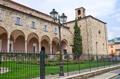 Abbotskloster av St. Colombano. Bobbio. Emilia-Romagna. Italien. Arkivfoton