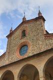 Abbotskloster av St. Colombano. Bobbio. Emilia-Romagna. Italien. Royaltyfria Foton