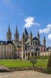 Abbotskloster av St Etienne, Caen, Frankrike Arkivfoton