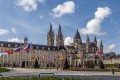 Abbotskloster av St Etienne och stadshuset, Caen, Frankrike Royaltyfri Fotografi