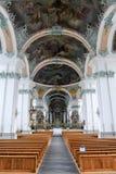 Abbotskloster av St Gallen på Schweiz Fotografering för Bildbyråer