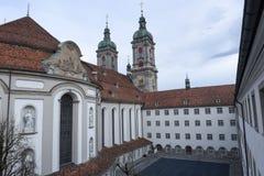Abbotskloster av St Gallen på Schweiz Royaltyfri Bild