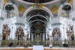 Abbotskloster av St Gallen på Schweiz Arkivbild