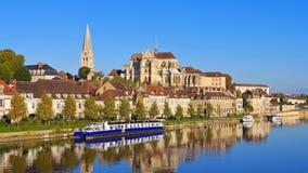 Abbotskloster av St Germain D ` Auxerre Royaltyfri Fotografi