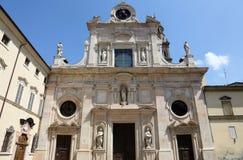 Abbotskloster av St John evangelisten Parma, Italien Arkivbilder