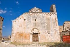 Abbotskloster av St.-Leonardo. Manfredonia. Puglia. Italien. Arkivfoto