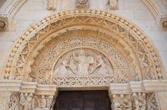 Abbotskloster av St.-Leonardo. Manfredonia. Puglia. Italien. Arkivbilder