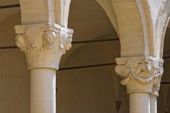 Abbotskloster av St. Michele Arcangelo. Montescaglioso. Basilicata. Royaltyfria Foton