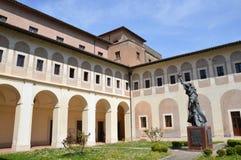 Abbotskloster av St Scholastica, Subiaco Royaltyfri Fotografi