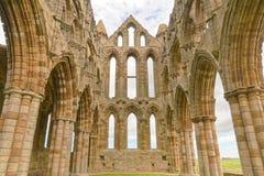 Abbotskloster av whitby, yorkshire, England Arkivbilder