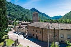 Abbotskloster (Badia) av San Gemolo i Ganna, landskap av varese, Italien Royaltyfri Fotografi
