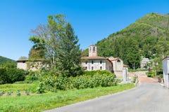 Abbotskloster (Badia) av San Gemolo i Ganna, landskap av varese, Italien Fotografering för Bildbyråer