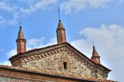 Abbotskloster för St. Colombano. Bobbio. Emilia-Romagna. Italien. Royaltyfri Bild