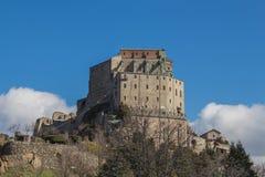 Abbotskloster för St Michael ` s i Val di Susa piedmont italy Royaltyfri Fotografi