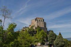 Abbotskloster för St Michael ` s i Val di Susa piedmont italy Arkivbilder