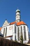 Abbotskloster för St Ulrichs och för St Afras i Augsburg, Tyskland Arkivfoto