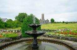 Abbotskloster fördärvar, Quin, Irland Royaltyfri Foto