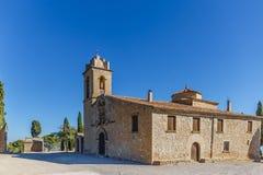 Abbotskloster i berget, Spanien, Aragon Royaltyfria Bilder