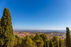 Abbotskloster i berget, Spanien, Aragon Arkivbild