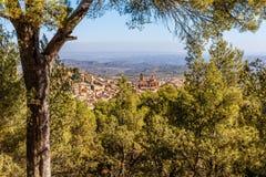 Abbotskloster i berget, Spanien, Aragon Royaltyfri Foto