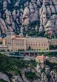 Abbotskloster i Montserrat Arkivfoto