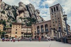 Abbotskloster i Montserrat Royaltyfri Foto
