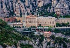 Abbotskloster i Montserrat Royaltyfria Bilder