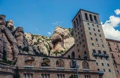Abbotskloster i Montserrat Arkivfoton