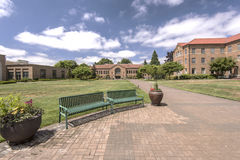 Abbotskloster i Mt Angel Oregon Royaltyfria Bilder