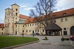 Abbotskloster i Tyniec, Polen Royaltyfria Bilder