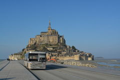 Abbotskloster - Mont St Michel, Royaltyfria Foton